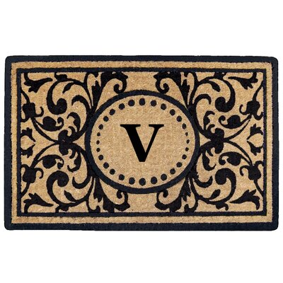 Heritage Heavy Duty Door Mat Letter: V