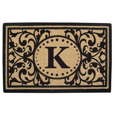 Heavy Duty Door Mat Letter: K