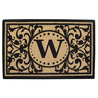 Heavy Duty Door Mat Letter: W