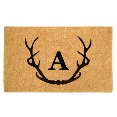 Antler Doormat Letter: A