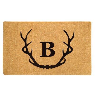 Antler Doormat Letter: B