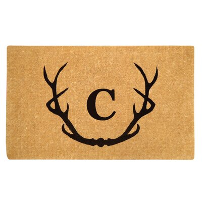 Antler Doormat Letter: C