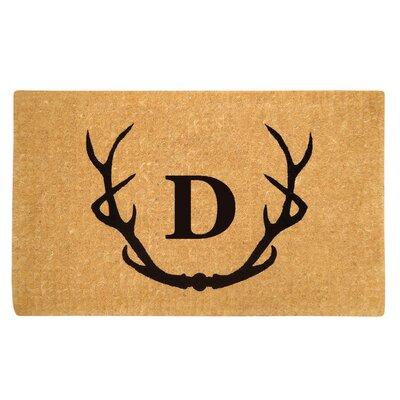Antler Doormat Letter: D
