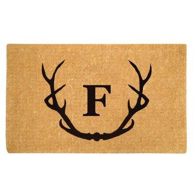 Antler Doormat Letter: F