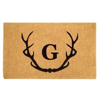 Antler Doormat Letter: G