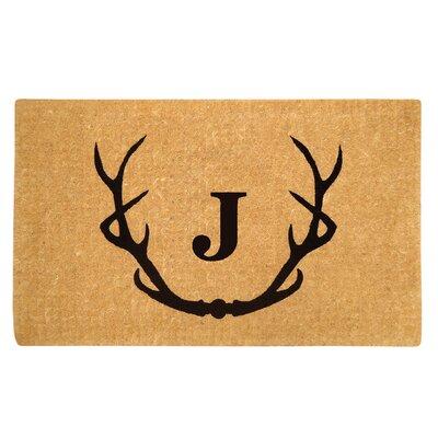 Antler Doormat Letter: J