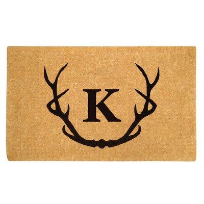 Antler Doormat Letter: K