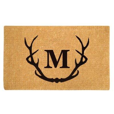Antler Doormat Letter: M