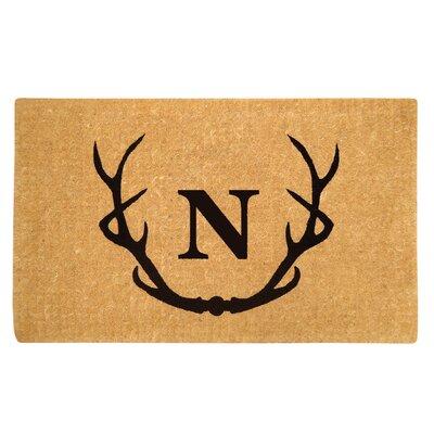 Antler Doormat Letter: N
