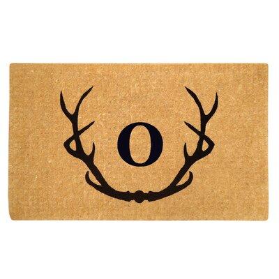 Antler Doormat Letter: O