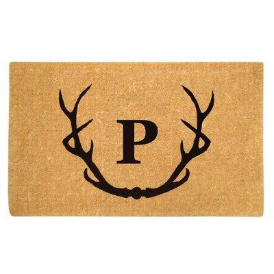 Antler Doormat Letter: P