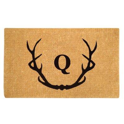 Antler Doormat Letter: Q