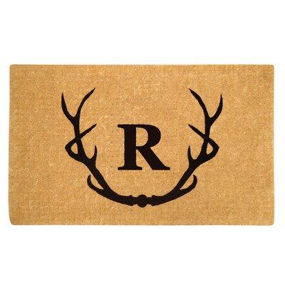 Antler Doormat Letter: R