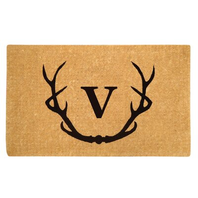 Antler Doormat Letter: V