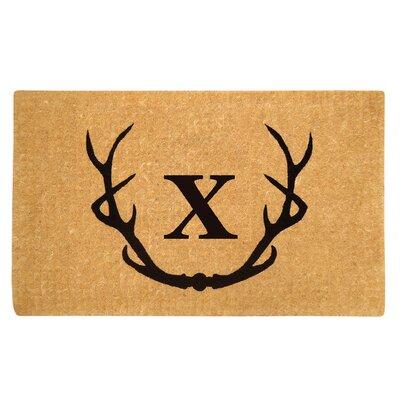 Antler Doormat Letter: X