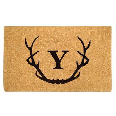 Antler Doormat Letter: Y