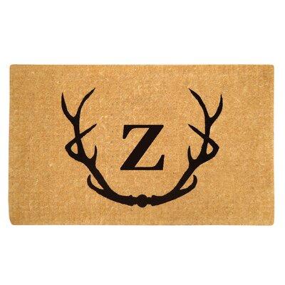 Antler Doormat Letter: Z