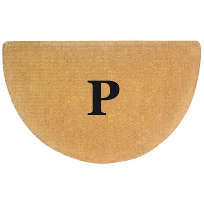 Half Round No Border Personalized Monogrammed Doormat