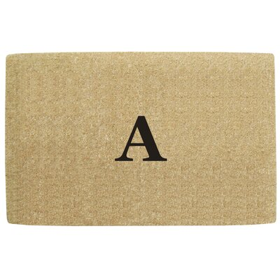 No Border Personalized Monogrammed Doormat
