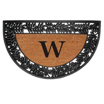 Half Round Olive Border Personalized Monogrammed Doormat