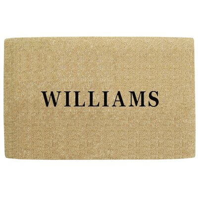 Heavy Duty Coco No Border Single Picture Frame Personalized Door Mat Mat Size: Rectangle 110 x 3