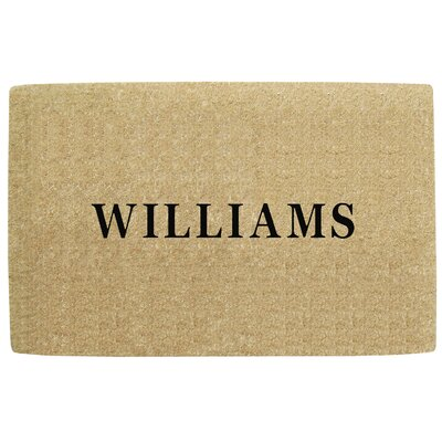 Heavy Duty Coco No Border Single Picture Frame Personalized Door Mat Mat Size: Rectangle 32 x 5