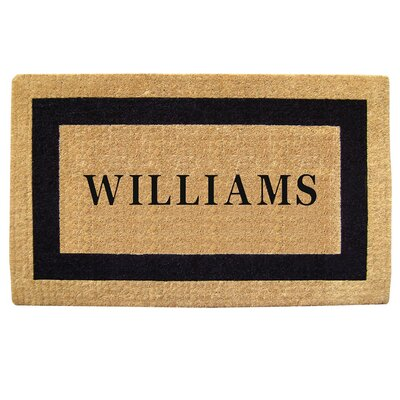 Heavy Duty Coco Single Picture Frame Personalized Door Mat Rug Size: Rectangle 110 x 3