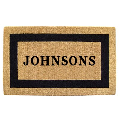 Heavy Duty Coco Single Picture Frame Personalized Door Mat Mat Size: Rectangle 32 x 5