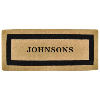 Heavy Duty Coco Single Picture Frame Personalized Door Mat Mat Size: Rectangle 2 x 49