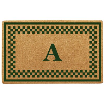 Checker Border Personalized Monogrammed Doormat