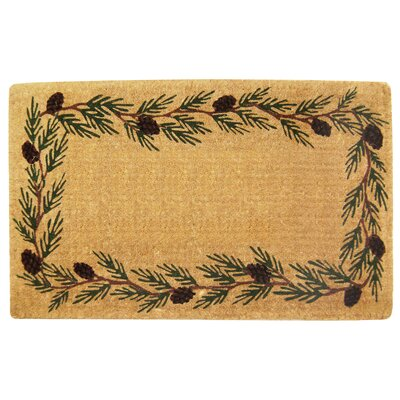 Evergreen Border Doormat Mat Size: 22 H x 36 W x 1 D