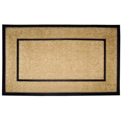 Hutchens Single Picture Frame Doormat Mat Size: 22 H x 36 W x 1 D