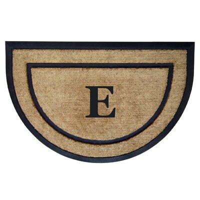 Half Round Border Personalized Monogrammed Doormat