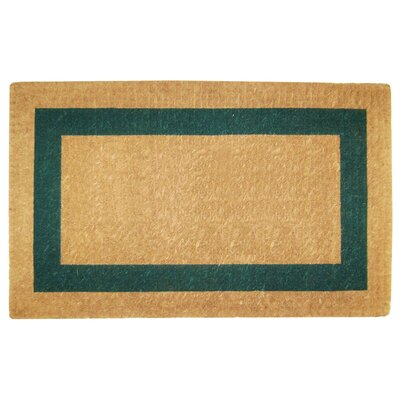 Grayson Single Picture Frame Doormat Mat Size: 22 H x 36 W x 1.5 D, Color: Green