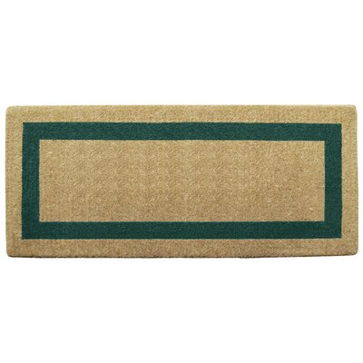 Grayson Single Picture Frame Doormat Mat Size: 24 H x 57 W x 1.5 D, Color: Green