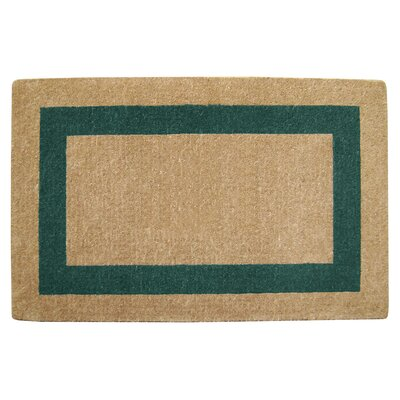 Grayson Single Picture Frame Doormat Mat Size: 30 H x 48 W x 1.5 D, Color: Green