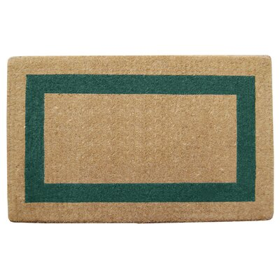 Grayson Single Picture Frame Doormat Mat Size: 38 H x 60 W x 1.5 D, Color: Green