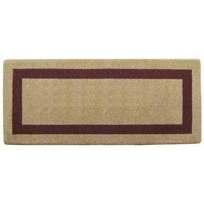 Grayson Single Picture Frame Doormat Rug Size: 24 H x 57 W x 1.5 D, Color: Brown