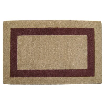 Grayson Single Picture Frame Doormat Rug Size: 30 H x 48 W x 1.5 D, Color: Brown