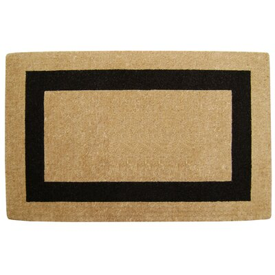 Grayson Single Picture Frame Doormat Mat Size: 30 H x 48 W x 1.5 D, Color: Black