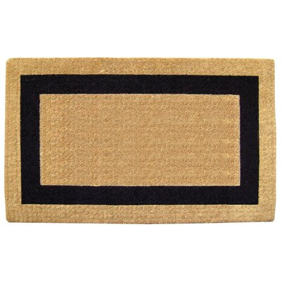 Grayson Single Picture Frame Doormat Rug Size: 38 H x 60 W x 1.5 D, Color: Black