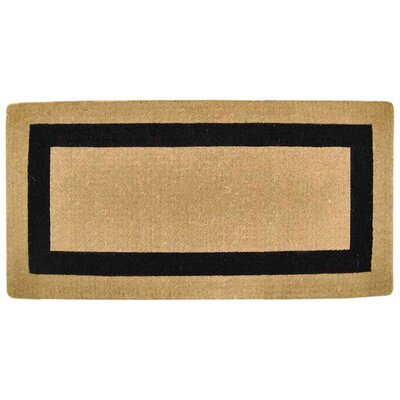 Grayson Single Picture Frame Doormat Rug Size: 36 H x 72 W x 1.5 D, Color: Black
