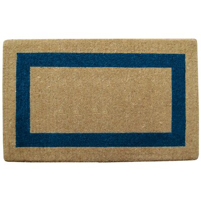 Grayson Single Picture Frame Doormat Rug Size: 38 H x 60 W x 1.5 D, Color: Blue