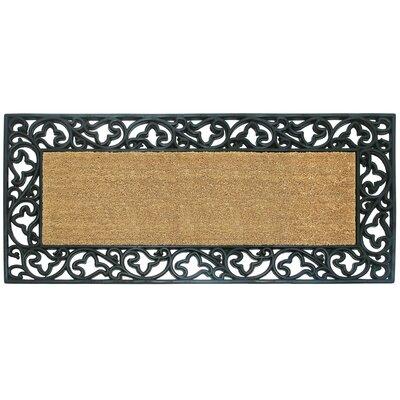 Lucile Acanthus Border Doormat Rug Size: 24 H x 57 W x 1 D