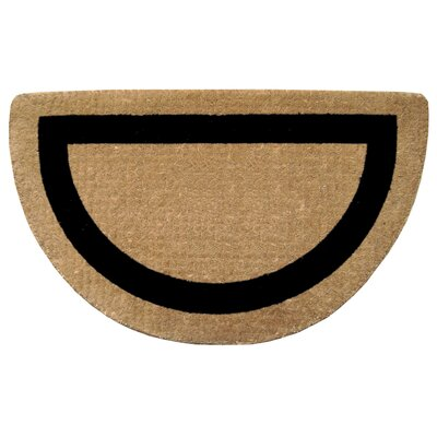 Single Picture Frame Doormat Color: Black