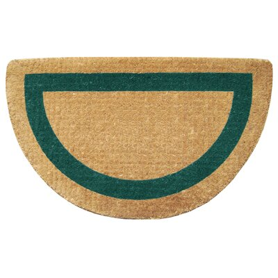 Single Picture Frame Doormat Color: Green