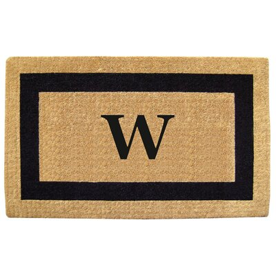 Single Picture Frame Personalized Monogrammed Doormat Color: Blue