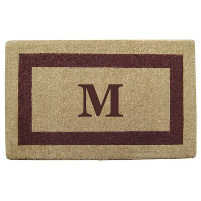 Single Picture Frame Personalized Monogrammed Doormat Color: Brown