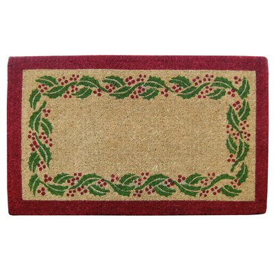 Holly Ivy Border Doormat