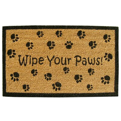 SuperScraper Wipe Your Paws Doormat
